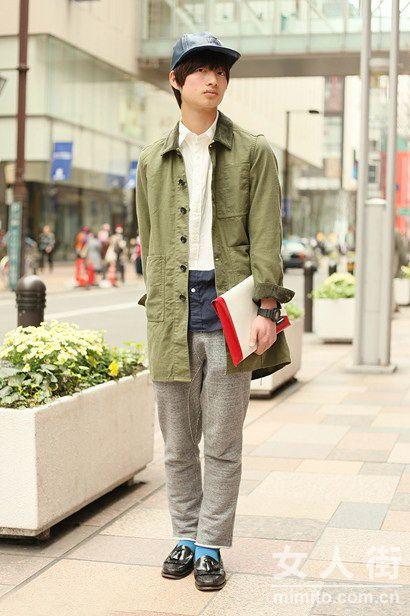 潮男怎么穿? 看日本街拍达人示范